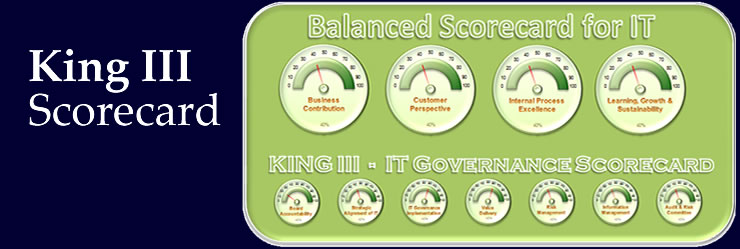 Performance measurement and compliance monitoring for IT governance.